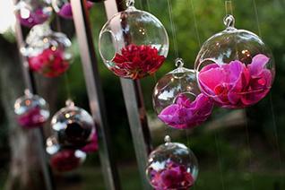 Оформление цветами в шарах