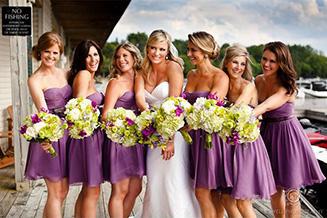 Свадебный букет невесте и дружкам