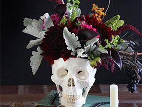 Цветы в черепе