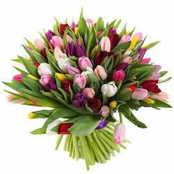 Весенние тюльпаны в букете
