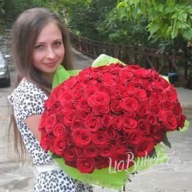 Букет роз Гран При для девушки - фото