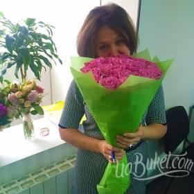 Букет розовых роз для любимой подруги - фото