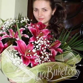 Букет лилий для дочери - фото