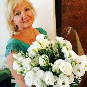 Букет белых эустом для мамы - фото