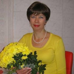 Желтые хризантемы для подруги - фото
