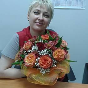 Букет в оранжевых тонах для получательницы - фото