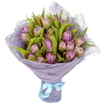 редкие сиреневые тюльпаны с листьями.jpeg