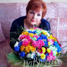 Разноцветные хризантемы для именинницы - фото