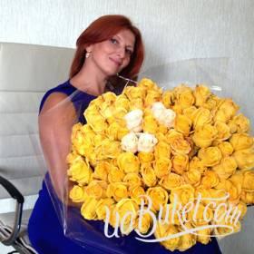 Букет из желтых роз для очаровательной получательницы - фото