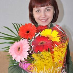 Букет гербер для счастливой получательницы - фото