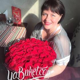 Букет из роз для любимой мамы - фото