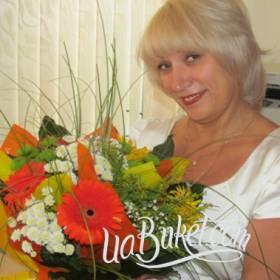 Букет из хризантем и гербер для любимой мамы  - фото