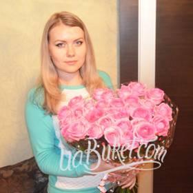 Букет нежных розовых роз для девушки - фото