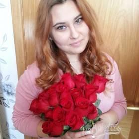 Букет из красных роз для девушки - фото