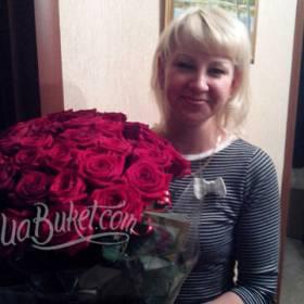51 красная роза для жены - фото