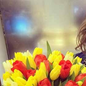 Букет тюльпанов для коллеги - фото