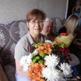 Букет хризантем для мамы