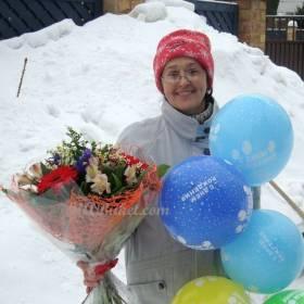Букет и шарики для мамы