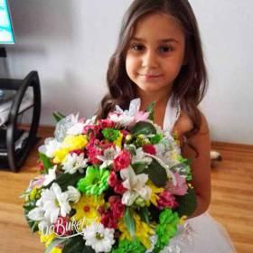 Сборный букет для девочки - фото